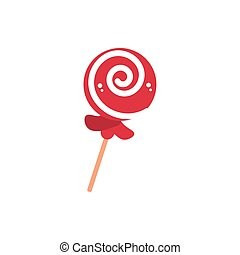 spiral lollipop sweet confectionery snack food candy vector ...