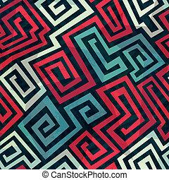 spiral maze seamless pattern
