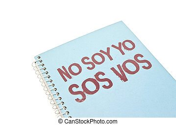 spiral notebook with