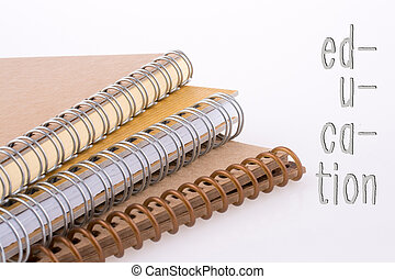 Spiral Notebooks with the Education wording