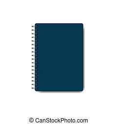 Spiral notepad, closed notebook icon isolated on white background. Vector illustration