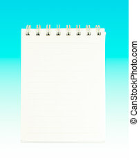 Spiral Notepad Isolate on blue background