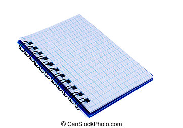 Spiral notepad isolated