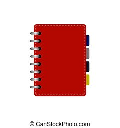 Spiral notepad, notebook icon isolated. Vector illustration