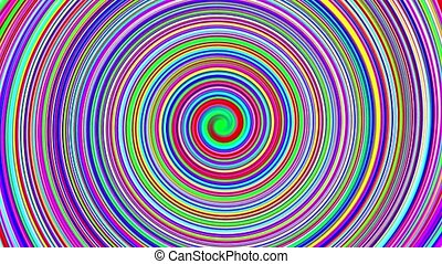 Spiral of colors - Colorful spiral spinning out.