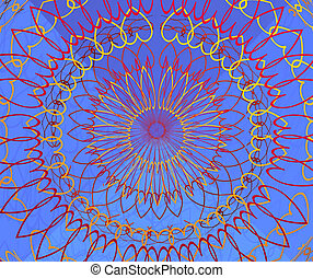 Spiral of Hearts - Illustration of hearts in a siral pattern...