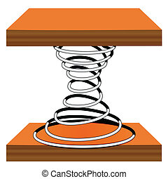 Spiral on a stand