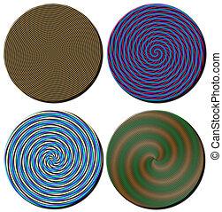 Spiral Pattern Circles