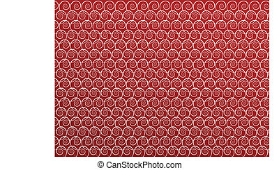 Spiral pattern on red background. Vector