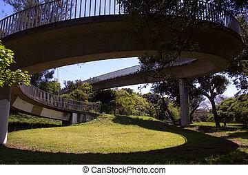Spiral Bridge Walkway Spiral Walkway To Eastbank Esplanade