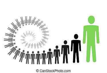 Spiral personal growth - spiral personal growth illustration