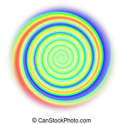 spiral - abstract colorful spiral