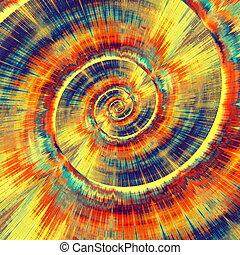 spiral., psychédélique, coloré