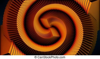 Spiral Psychedelic Swirl Tunnel Background, Slow moving...