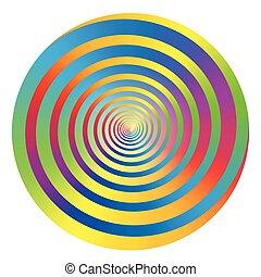 Spiral Rainbow Colored Circle