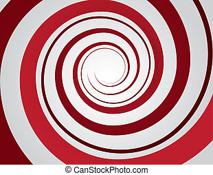 Spiral Red  - Red spiral and gray background