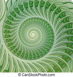 spiral., resumen, cáscara, fractal, plano de fondo