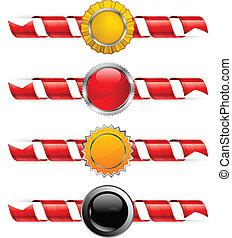 Spiral ribbon & label