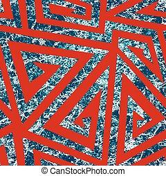 Spiral seamless pattern with grunge effect.