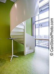 spiral staircase in an building