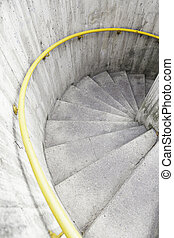 Spiral staircase in the city