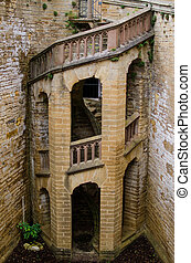 spiral staircase of Castle Hohenzollern