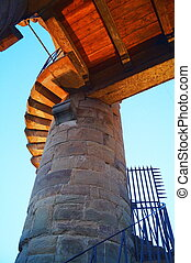 Spiral staircase on the Arnolfo tower of Palazzo Vecchio Florence