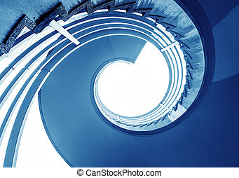 Spiral staircase - Rotation of the outdoor staircase