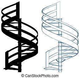 Spiral Staircase Vector 20.eps