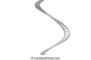 Spiral Stairs - Abstract 3d illustration of spiral stairs....