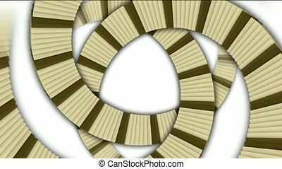 spiral stairs and send stripe shaped tunnel hole, square card papers math geometry array, computer tech web background.