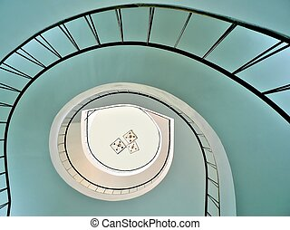 Spiral stairway in Wilanow palace in Warsaw