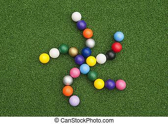 Spiral Star of Golf Balls