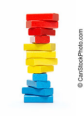 spiral starcase from child's bricks