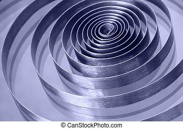 Spiral spring of an old clockwork