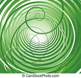 Spiral, swirl shapes. Abstract swoosh elements