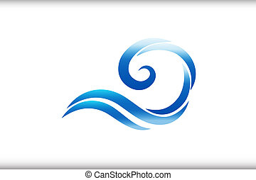 Spiral swirly waves logo