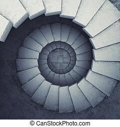 spiral, trappsteg