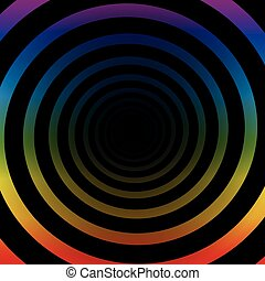 Spiral Tunnel Rainbow Colors Three