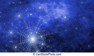Spiral Universe, Night Sky Atlas and Nebula - Fantasy space...