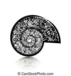 Spiral view of a snail