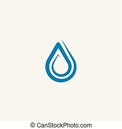 spiral water drop logo vector icon