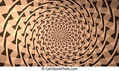 Spiral with Triangle Background