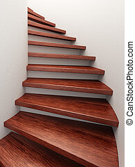 spiral wooden staircase