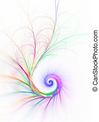 spirala, barwny