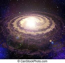 spirala, wir, galaktyka, w, przestrzeń
