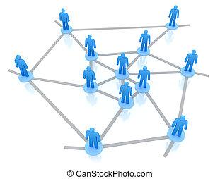 spirale, affari, rete, concetto