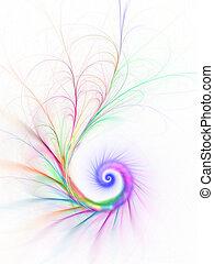 spirale, coloré