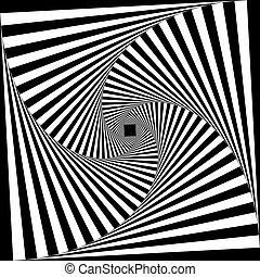 spirale, descendin, treppe, schwarz