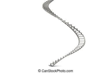 spirale, scale
